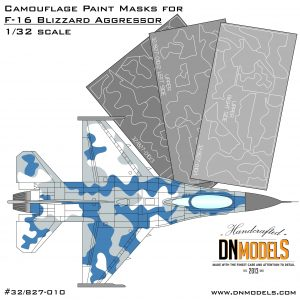 Camouflage Paint Masks for F-16C Blizzard Aggressor 1/32