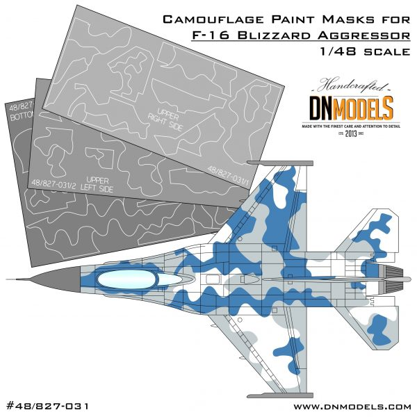 Camouflage Paint Masks for F-16C Blizzard Aggressor 1:48