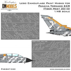Paint Masks for Panavia Tornado ECR TigerMeet 2010 - Lego Bomber 1/48