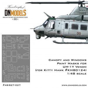 uh-1y venom kitty hawk canopy windows masks dn models 1/48 1:48 kh80124