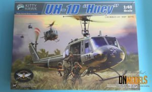 Kitty Hawk KH80154 Bell UH-1D Huey Iroquois Helicopter dn models unboxing review 48th scale utility BoxArt