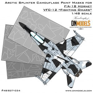 Camouflage Paint Masks for F/A-18 Hornet Aggressor/Adversary VFC-12 Fighting Omars 1/48