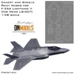 Canopy & Wheels Paint Masks for F-35A Lightning II 1/48 LS-007