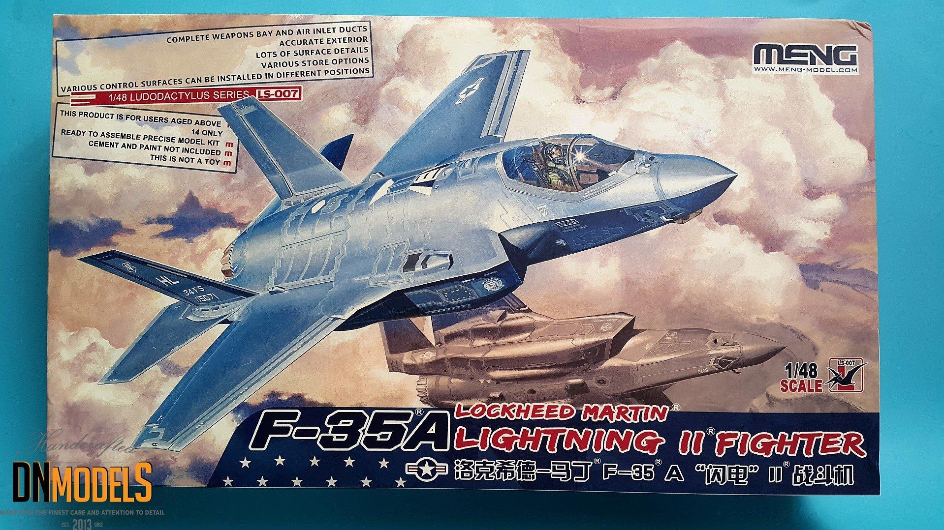 Meng Model F-35A Lightning II in 48th scale  » DN Models