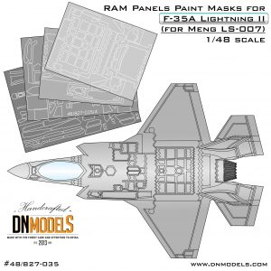 RAM Panels Paint Masks for F-35A Lightning II (for Meng LS-007) 1/48