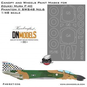 Canopy and Wheels Paint Masks for F-4C Phantom II 1/48 Zoukei-Mura SWS No.6