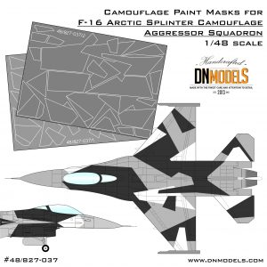 Camouflage Paint Masks for F-16C Arctic Splinter Aggressor 1/48 Tamiya