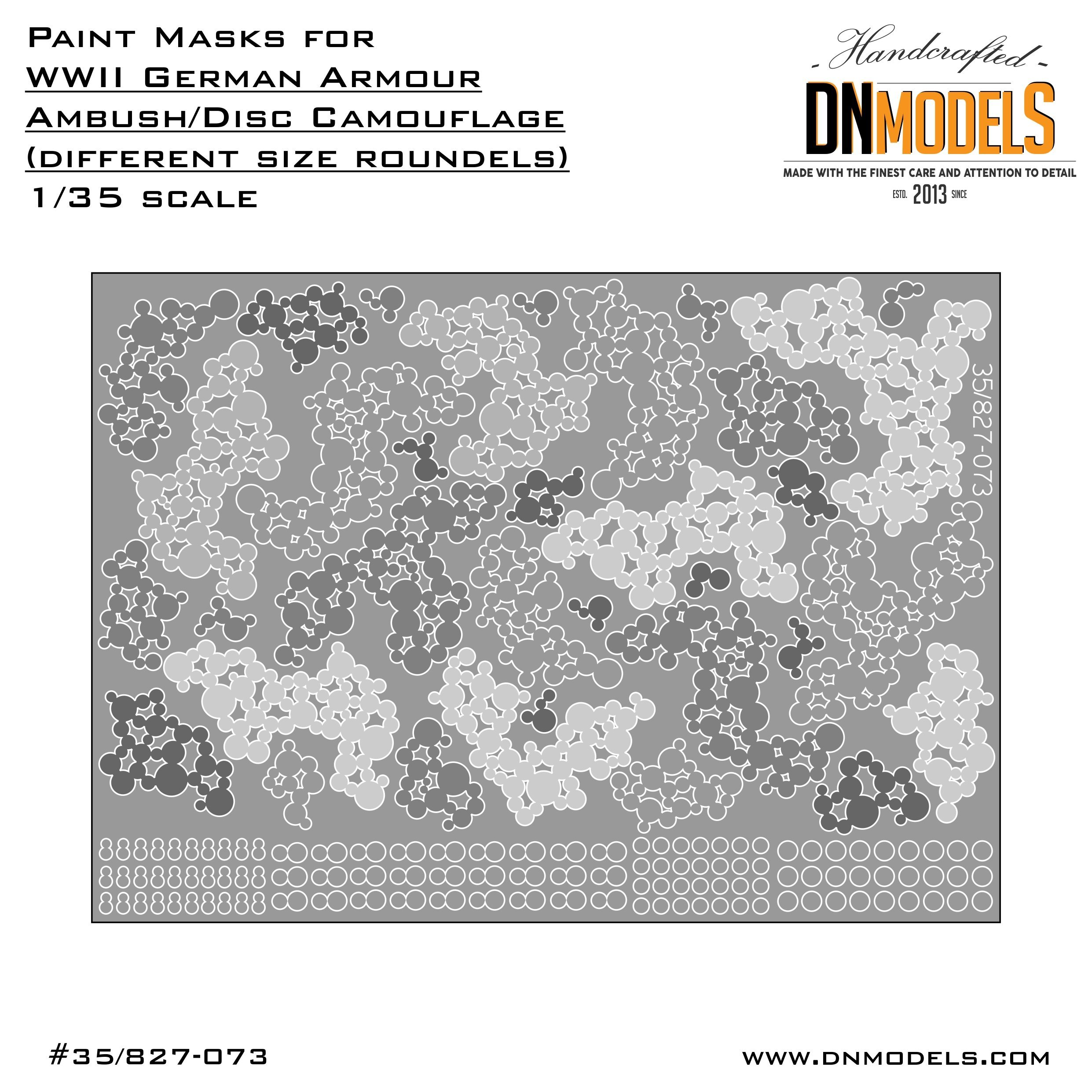 fantastic savings low priced special sales Paint Mask set 1/35 WWII German Disc Camo (different size roundels ...