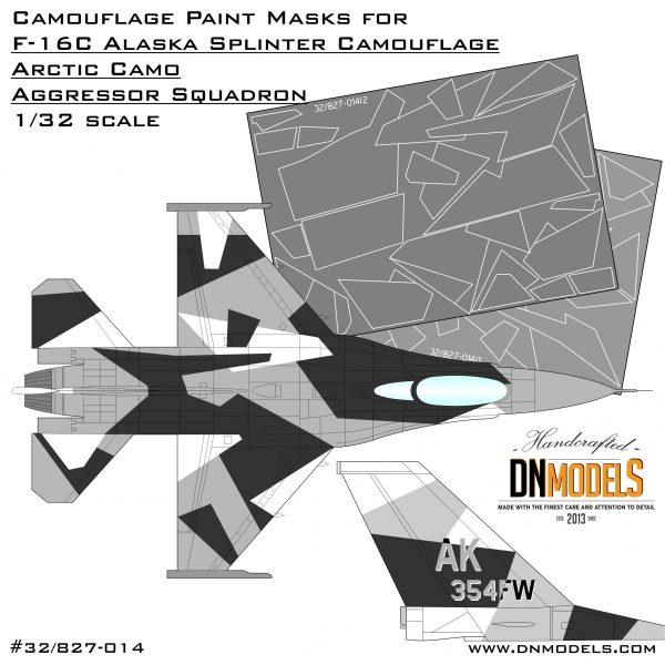 Camouflage Paint Masks for F-16C Arctic Splinter Aggressor 1/32 black