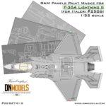 Cover F-35A RAM Panels (Italeri 2506) 32nd scale (Site)