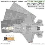 Cover F-35A RAM Panels (Italeri 2506, Tamiya 25414, Academy 12128) 32nd scale (Site)