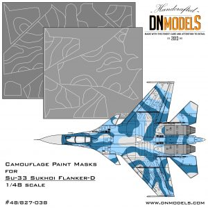 1/48 Camouflage paint mask set for Su-33 Flanker-D
