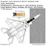 Cover F-15E Canopy (GWH L7201 L7202) 72nd (site)