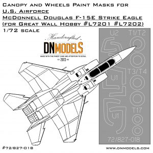 F-15E Strike Eagle - Canopy and Wheels Paint Masks Set