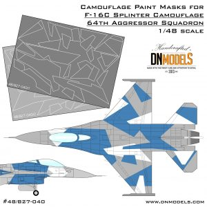 Camouflage Paint Masks for F-16C Blue Splinter Aggressor 1/48. Arctic