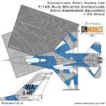 Cover F-16C Blue Splinter Camo 32th scale (Site)