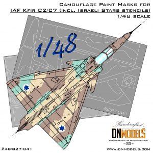 IAI Kfir C2/C7 Camouflage Paint Masks Set + Israeli Stars 1/48