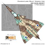 Cover IAF Kfir C2 C7 Camo NEW 72th (Site)