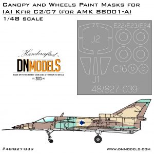 IAI Kfir C2/C7 Canopy and Wheels Masks Set + Israeli Stars 1/48