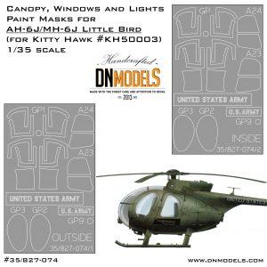 Canopy, Windows and Lights Paint Masks for AH-6J/MH-6J Little Bird