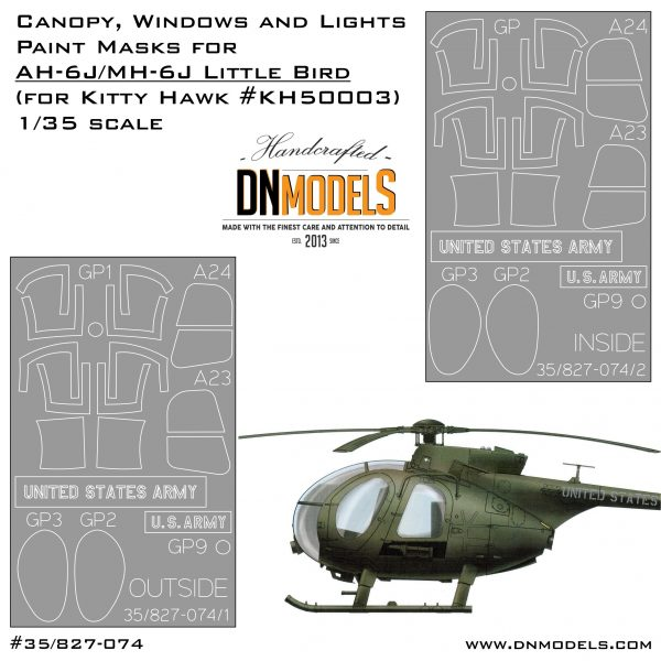 Cover Little Bird AH-6J Canopy (Kitty Hawk #KH50003) 35th (site)