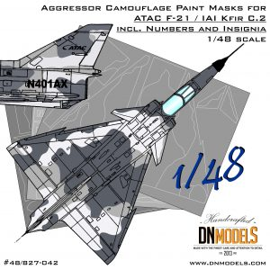 ATAC Aggressor F-21 / Kfir C.2 Camouflage Paint Masks + Numbers and Insignia 1/48