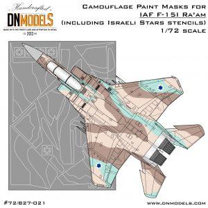 IAF F-15i Ra'am Camouflage Paint Masks Set + Israeli Stars Stencils 1/72