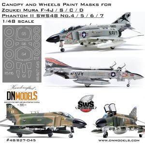 f-4 j/s/c/d mask set canopy