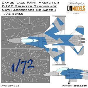 Camouflage Paint Mask set for F-16C 64th Aggressor Squadron 72nd