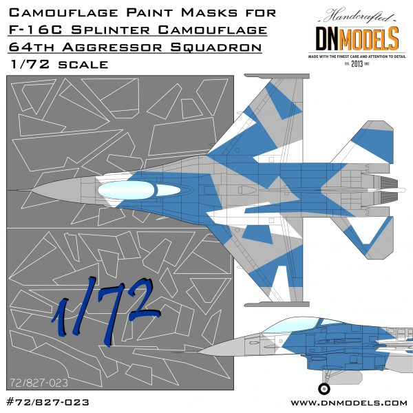 Cover F-16 Blue Arctic Camo 72nd (Site)