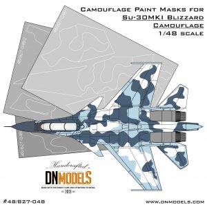 Camouflage Paint masks set for Su-30MKI Blizzard Flanker 1/48