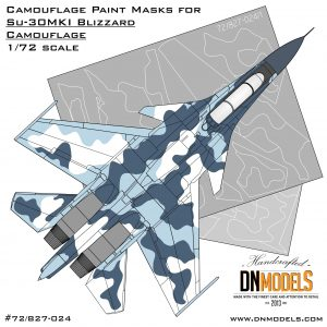 Camouflage Paint masks set for Su-30MKI Blizzard Flanker 1/72