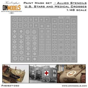 Allied US Stars and Medical Crosses Stencils Mask Set 1/48 scale