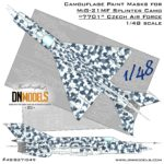 Cover MiG-21 Czech 7701 Splinter Camo 48nd scale (Site)