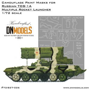 tos-1a camouflage paint mask set 1/72 modelcollect 1:72 cover dn models