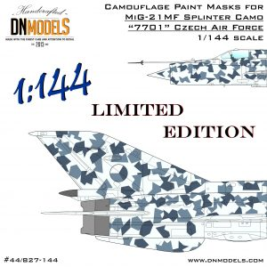 Czech Splinter 1/144 MiG-21MF Limited Edition 1:144 Mask set Czech Zebra 7701 Paint Mask Set
