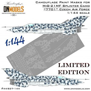 1:144 Czech Splinter 7701 Camouflage Paint Masks for MiG-21MF 1/144 Limited Edition