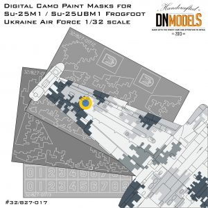 su-25m1 su-25ubm1 ukrainian digital camouflage paint mask set dn models su-25K su-25ub