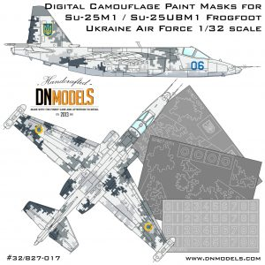 su-25m1 su-25ubm1 ukrainian digital camo paint mask set dn models