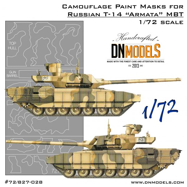 23f6592466df T-14 Armata 1 72 Russian Main Battle Tank Camouflage Paint Mask Set »