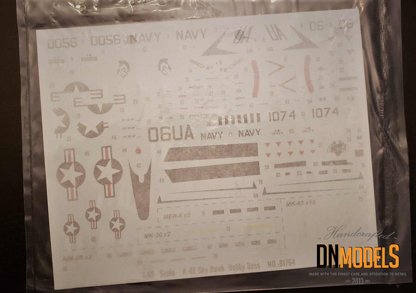 Unboxing and Review: 1/48 A-4E Skyhawk Hobby Boss #81764 decals