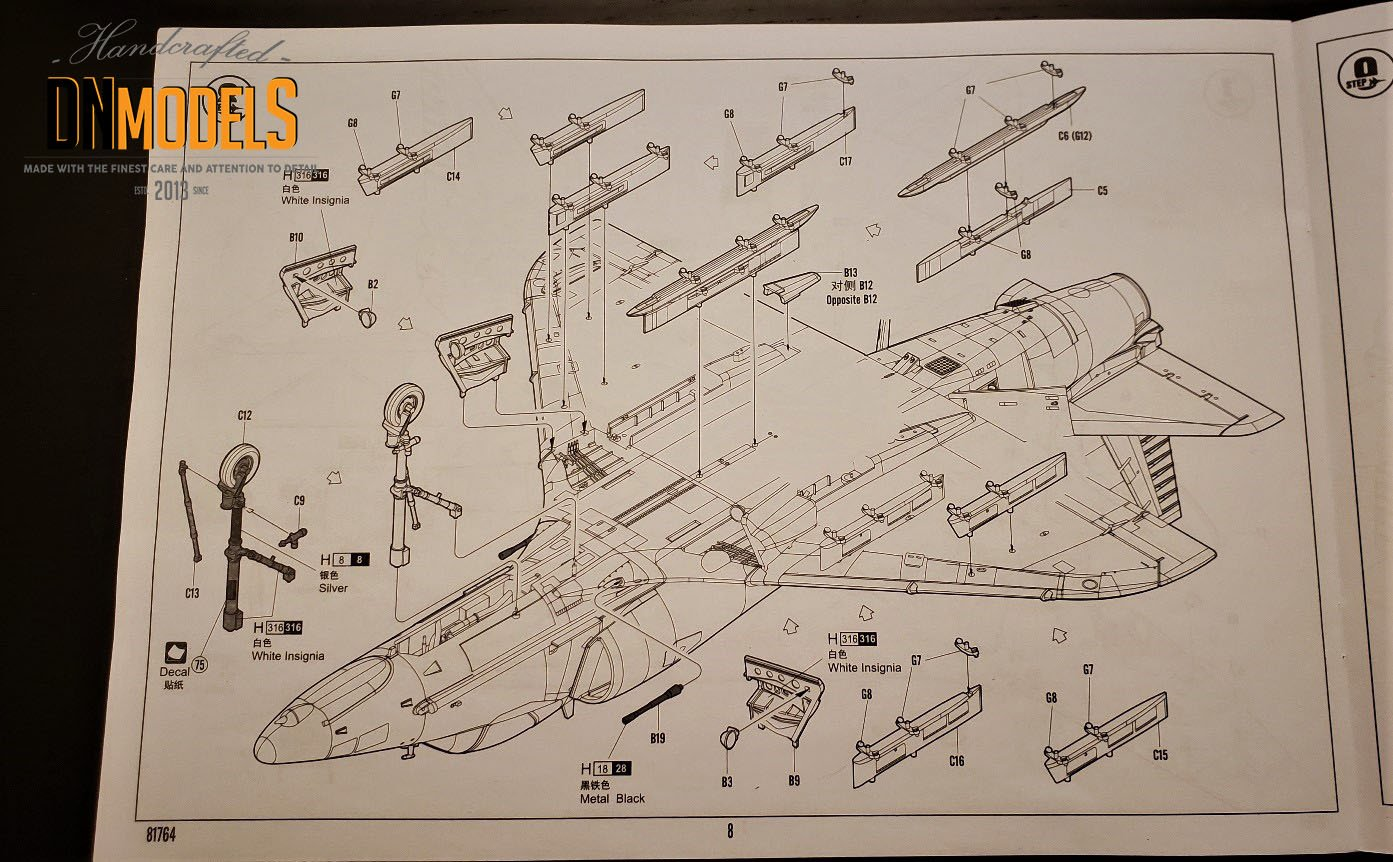 Unboxing and Review: 1/48 A-4E Skyhawk Hobby Boss #81764 ins