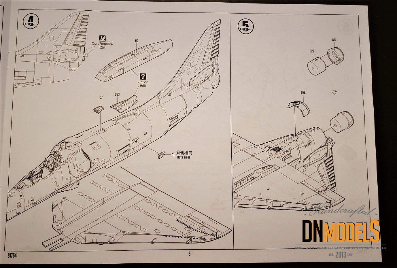 Unboxing and Review: 1/48 A-4E Skyhawk Hobby Boss #81764 sheet