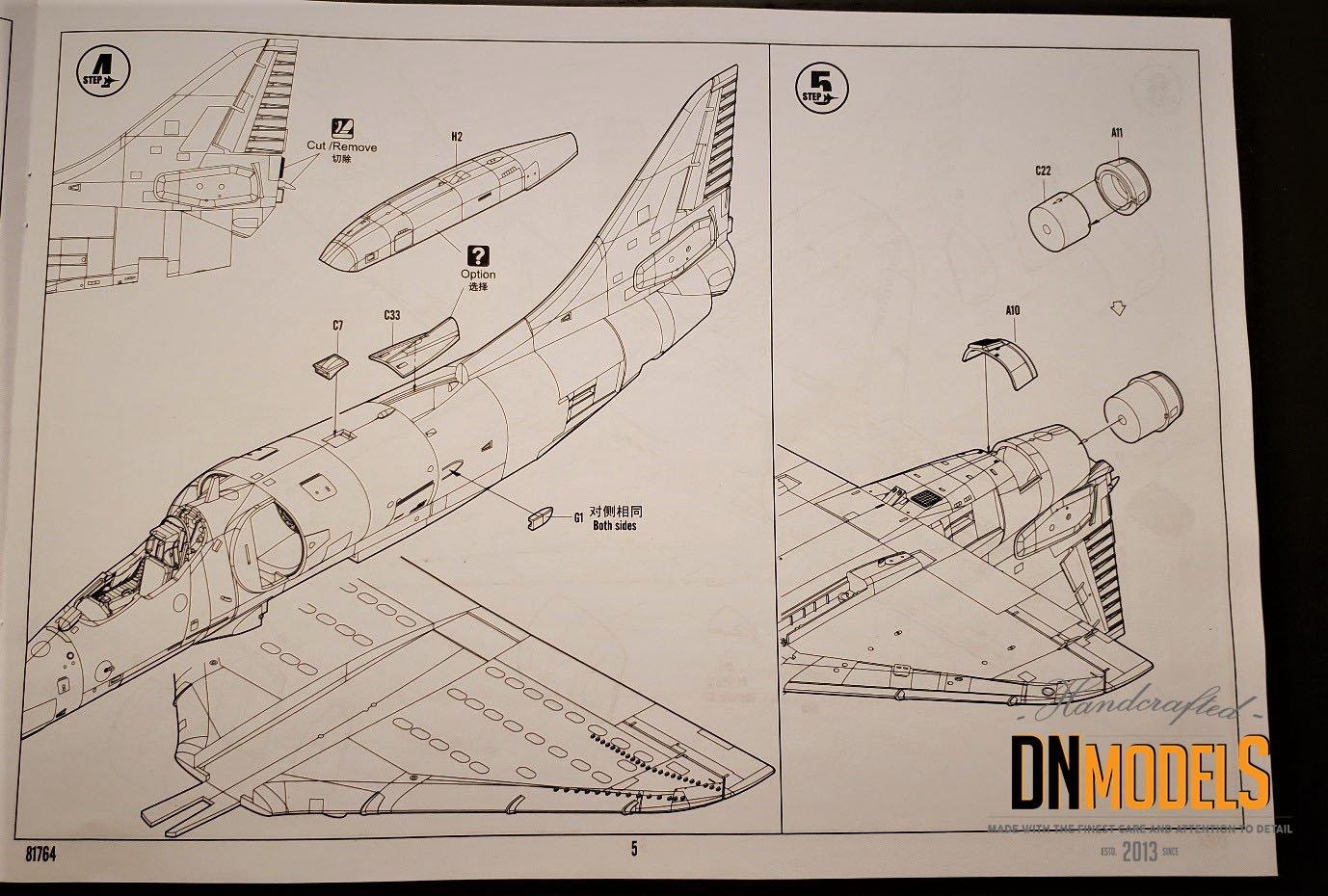 Unboxing and Review: 1/48 A-4E Skyhawk Hobby Boss #81764 sheet
