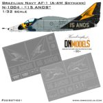 Cover Brazilian Navy AF-1 (A-4M) 15 ANOS 32nd scale (Site)
