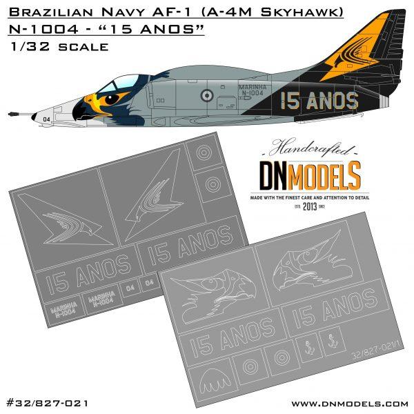 15 anos anniversary brazilian navy skyhawk af-1 a-4 ah-1 marinha dn models