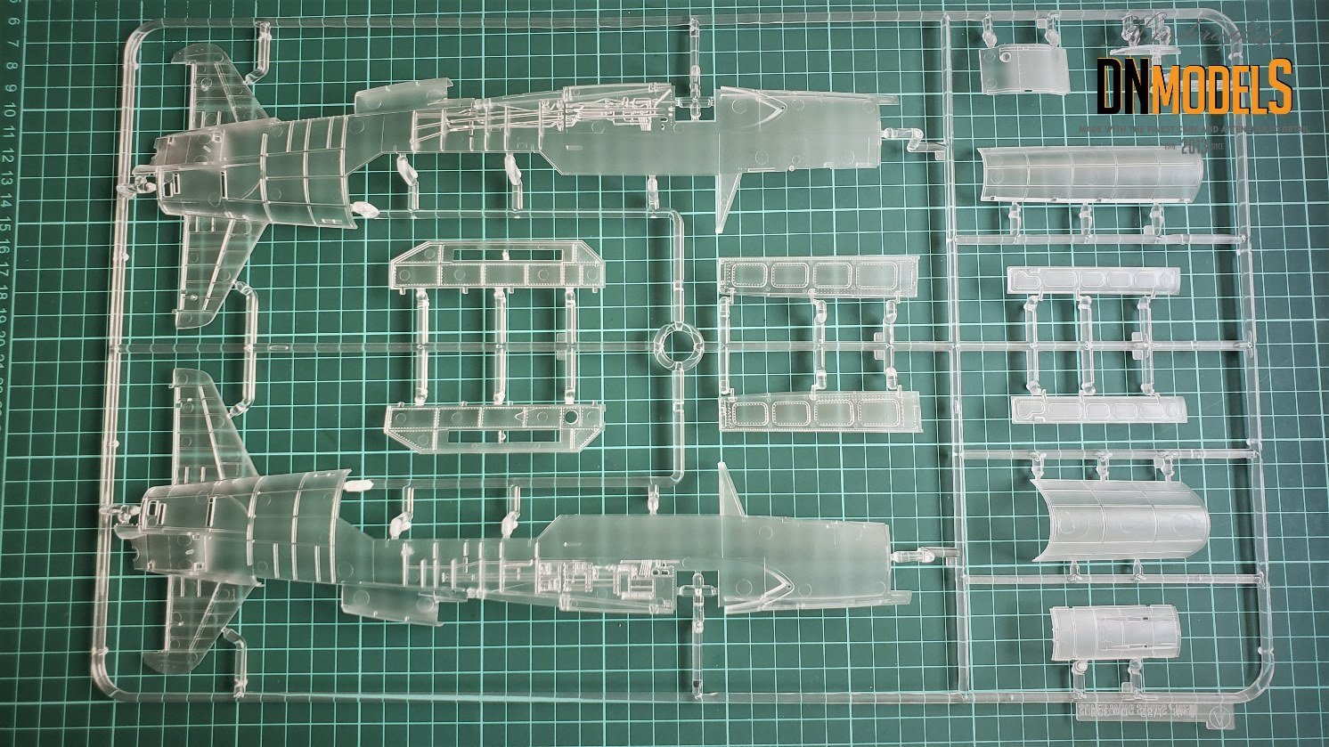 Do-335 Anteater from Zoukei-Mura A12 clear sprues review by dn models masks for scale models