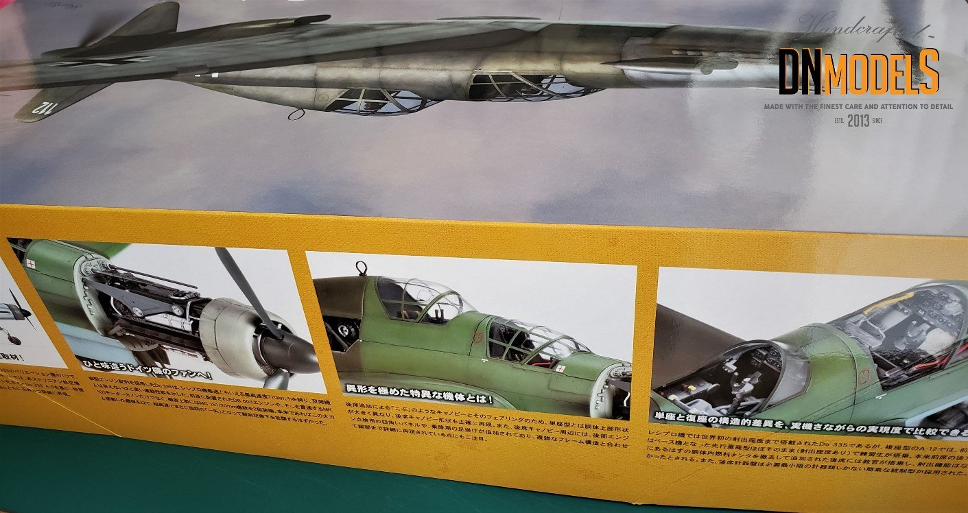 Do-335 Anteater from Zoukei-Mura A12 review by dn models masks for scale models