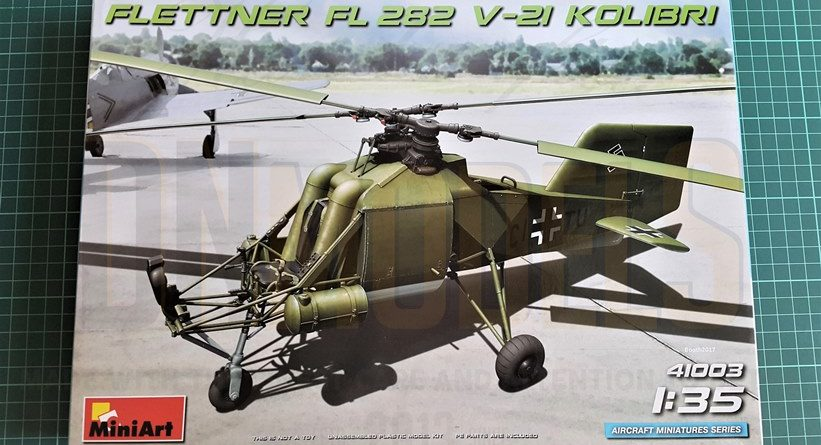 Flettner Fi 282 V21 kolibri dn models masks for scale models review unboxing miniart v21
