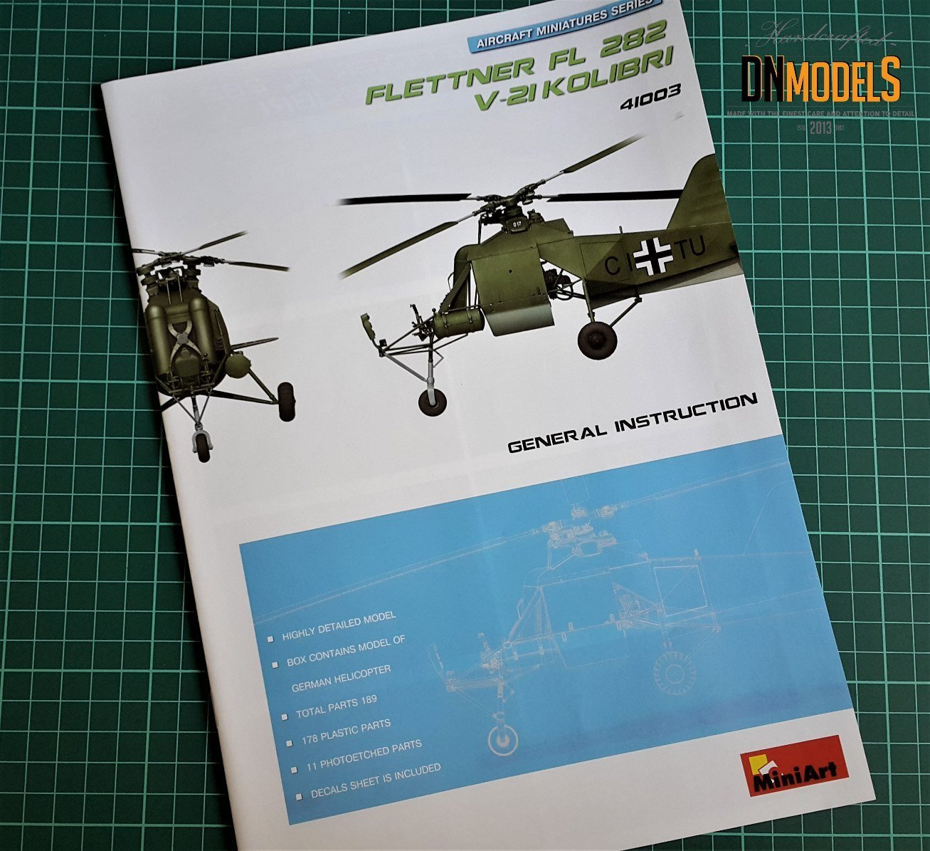 Flettner Fi 282 V21 kolibri dn models masks for scale models review unboxing miniart colibri